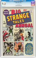 Silver Age (1956-1969):Superhero, Strange Tales Annual #1 (Marvel, 1962) CGC NM- 9.2 Off-white towhite pages....