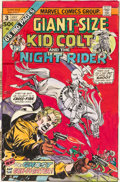 Original Comic Art:Covers, Gil Kane Giant-Size Kid Colt #3 Hand-Colored Cover OriginalArt (Marvel, 1975)....
