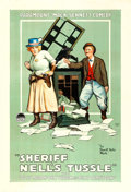"Movie Posters:Western, Sheriff Nell's Tussle (Paramount, 1918). One Sheet (28"" X 41"").. ..."