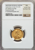 Ancients:Roman Imperial, Ancients: Valentinian II, Western Roman Emperor (AD 375-392). AVsolidus (4.47 gm)....