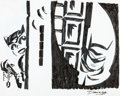 Original Comic Art:Covers, Darwyn Cooke Batman: Ego and Other Tails Wrap-Around CoverCatwoman Original Art (DC, 2007)....