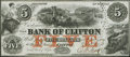 Canadian Currency: , Clifton, PC- Bank of Clifton $5 Oct. 1, 1859 Ch. # 125-10-04-06....