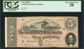 Confederate Notes:1864 Issues, T69 $5 1864 PF-2 Cr. 559.. ...