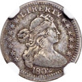 Early Half Dimes, 1802 H10C V-1, LM-1, R.5 -- Obverse Graffiti, Bent -- NGC Details.VF....