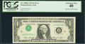 Error Notes:Inverted Third Printings, Fr. 1908-F $1 1974 Federal Reserve Note. PCGS Extremely Fine 40.....