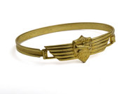 "Dick Tracy Air Detective Brass Wing Bracelet (Quaker, 1938-39) Condition: NM. This girl's ""Dick Tracy Wing Bracelet..."