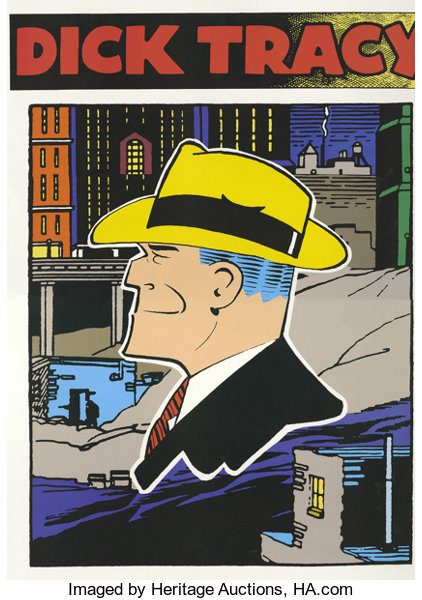 Dick Tracy Poster Walt Disney 1990 Our Hero In The Big Yellow