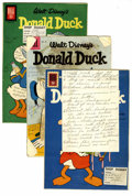 Memorabilia:Comic-Related, Donald Duck Shop Dummy Cover Proof Group (Dell/Gold Key, 1956-63).Interesting set of cover mock-ups, used in the production...(Total: 4 Items)