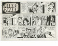 Original Comic Art:Comic Strip Art, Alfred Andriola - Kerry Drake Sunday Comic Strip Original Art,dated 5-23-71 (Field Enterprises, 1971). Kerry's young partne...