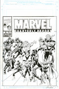 Original Comic Art:Covers, John Buscema and Greg Adams - Marvel Quarterly Report 1993 #3Original Art (Marvel, 1993). When Marvel floated on the Stock ...