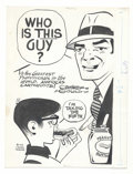 Original Comic Art:Sketches, Chester Gould - Dick Tracy Illustration Original Art (The Chicago Tribune, 1972). Chester Gould drew this specialty piece fo...