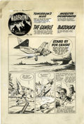 "Original Comic Art:Complete Story, Bob Powell - Warfront #34, Complete 6-page Story ""Tomorrow's War""Original Art (Harvey, 1958). Here's the story of how one m...(Total: 6 Items)"