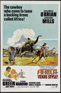 "Movie Posters:Adventure, Africa - Texas Style! (Paramount, 1967). One Sheet (27"" X 41"").Hugh O'Brian and John Mills star in this adventure about an ..."