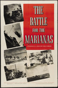 "Movie Posters:Documentary, The Battle for the Marianas (Warner Brothers, 1944). One Sheet (27"" X 41""). During WWII Admiral Chester Nimitz was in charge..."
