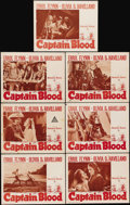 "Movie Posters:Adventure, Captain Blood (Warner Brothers, R-1947). Lobby Cards (7) (11"" X14""). Warner Brothers wanted Robert Donat to play the lead i...(Total: 7 Items)"
