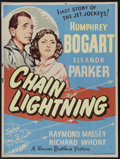 "Movie Posters:Action, Chain Lightning (Warner Brothers, 1950). Poster (30"" X 40"").Humphrey Bogart is a tough test pilot who romances his WWII lov..."