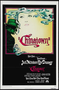 "Chinatown (Paramount, 1974). One Sheet (27"" X 41""). Jack Nicholson and Faye Dunaway star in a Roman Polanski d..."