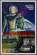 """Movie Posters:Science Fiction, The Day the Earth Stood Still (20th Century Fox, R-1994). One Sheet(27"""" X 41""""). The Cadillac of 50s sci-fi films is this ca..."""