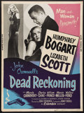 "Movie Posters:Film Noir, Dead Reckoning (Columbia, R-1955). Poster (30"" X 40""). A soldierdisappears after being nominated for the Medal of Honor. Hu..."