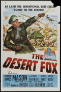 """Movie Posters:War, The Desert Fox (20th Century Fox, 1951). One Sheet (27"""" X 41"""").James Mason stars in the title role of the Nazi general pois..."""