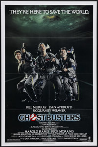 "Ghostbusters (Columbia, 1984). One Sheet (27"" X 41""). Dan Aykroyd co-wrote the screenplay and stars with Bill..."