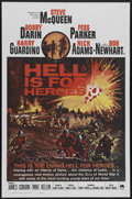 "Movie Posters:War, Hell Is for Heroes (Paramount, 1962). One Sheet (27"" X 41"").International One Sheet. Bob Newhart made his screen debut in t..."