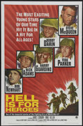 "Movie Posters:War, Hell Is for Heroes (Paramount, 1962). One Sheet (27"" X 41""). DonSiegel directs his only war film with Steve McQueen as a re..."