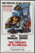 "Movie Posters:War, The Heroes of Telemark (Columbia, 1966). One Sheet (27"" X 41"").Kirk Douglas and Richard Harris lead a group of Norwegian re..."