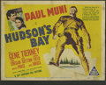 """Movie Posters:Adventure, Hudson's Bay (20th Century Fox, 1941). Title Lobby Card and LobbyCards (3) (11"""" X 14""""). Paul Muni, Gene Tierney, Vincent Pr...(Total: 4 Items)"""