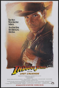 """Indiana Jones and the Last Crusade (Paramount, 1989). Advance One Sheet (27"""" X 41""""). Keeping up with the Jones..."""