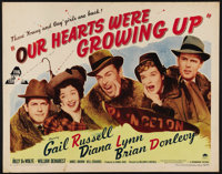 "Our Hearts Were Growing Up (Paramount, 1946). Half Sheet (22"" X 28""). Gail Russell and Diana Lynn are two coll..."
