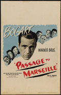 "Movie Posters:War, Passage to Marseille (Warner Brothers, 1944). Window Card (14"" X22""). Humphrey Bogart, Claude Rains, Sydney Greenstreet and..."