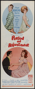 "Movie Posters:Comedy, Period of Adjustment (MGM, 1962). Insert (14"" X 36""). The first film directed by George Roy Hill (""Butch Cassidy and the Sun..."