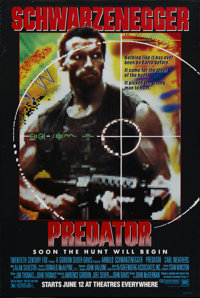 """Predator (20th Century Fox, 1987). Advance One Sheet (27"""" X 41""""). Before he was governor, and being hunted all..."""