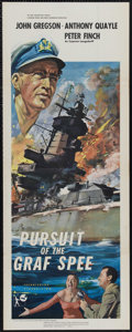 """Movie Posters:War, Pursuit of the Graf Spee (Rank, 1956). British Insert (14"""" X 36"""").The true story of the sinking of the battleship Graf Spee..."""