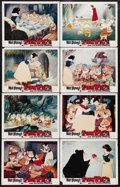 "Movie Posters:Animated, Snow White and the Seven Dwarfs (Buena Vista, R-1975). Lobby CardSet of 8 (11"" X 14""). The first animated feature film made...(Total: 8 Items)"
