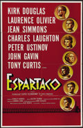 """Movie Posters:Adventure, Spartacus (Universal International, 1960). One Sheet (27"""" X 41"""").This is a Spanish language poster for """"Spartacus,"""" Stanley..."""