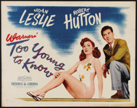 "Too Young to Know (Warner Brothers, 1945). Half Sheet (22"" X 28""). In this wartime romance, a young man fighti..."
