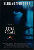 "Movie Posters:Science Fiction, Total Recall (Tri Star Pictures, 1990). One Sheet (27"" X 41""). Construction worker Douglas Quaid (Arnold Schwarzenegger) has..."