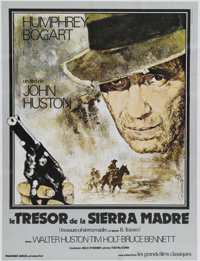 "The Treasure of the Sierra Madre (Warner Brothers, R-1977). French Petite (22.5 "" X 30""). ""I know what go..."