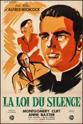 """Movie Posters:Hitchcock, I Confess (C.F.R., 1953). French Half Grande (31.5"""" X 47.25"""").Hitchcock.. ..."""