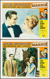 "Marnie (Universal, 1964). Autographed Lobby Card & Lobby Card (11"" X 14""). Hitchcock. ... (Total: 2 Items)"
