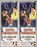 """Movie Posters:Mystery, High Terrace (Allied Artists, 1956). Inserts (2) Identical (14"""" X36""""). Mystery.. ... (Total: 2 Items)"""