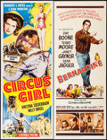 "Movie Posters:Adventure, Circus Girl & Others Lot (Republic, 1956). Inserts (3) (14"" X36""). Adventure.. ... (Total: 3 Items)"