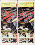 "Movie Posters:Action, The Great Locomotive Chase (Buena Vista, 1956). Inserts (3)Identical (14"" X 36""). Action.. ... (Total: 3 Items)"