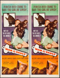 """Movie Posters:Crime, Man in the Vault (RKO, 1956). Inserts (6) (Identical) (14"""" X 36""""). Crime.. ... (Total: 6 Items)"""