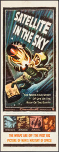 """Movie Posters:Science Fiction, Satellite in the Sky (Warner Brothers, 1956). Insert (14"""" X 36""""). Science Fiction.. ..."""