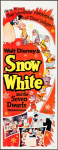 """Movie Posters:Animation, Snow White and the Seven Dwarfs (Buena Vista, R-1958). Insert (14""""X 36""""). Animation.. ..."""