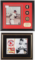 Baseball Collectibles:Uniforms, Ted Williams Signed UDA Display and Highland Mint Bat Piece Display....