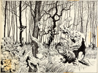 Bernie Wrightson DC Special Series #2 Swamp Thing Wraparound Cover Original Art (DC, 1977)
